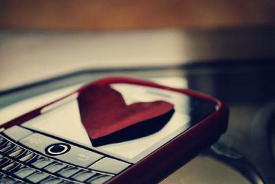 coração, celular, foto